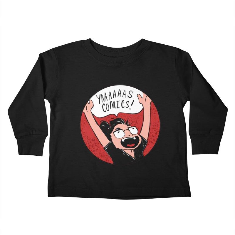 Yaaaaas Comics! Kids Toddler Longsleeve T-Shirt by caitymayhem's Artist Shop