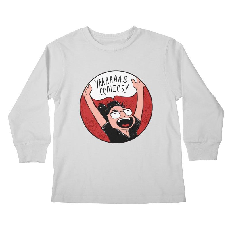 Yaaaaas Comics! Kids Longsleeve T-Shirt by caitymayhem's Artist Shop