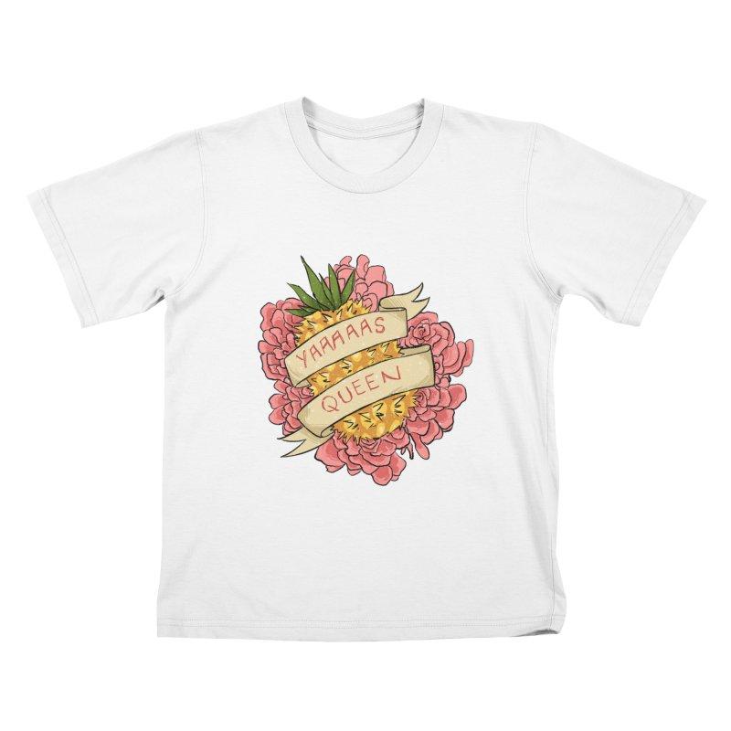 Yaaaaas Queen Kids T-Shirt by caitymayhem's Artist Shop