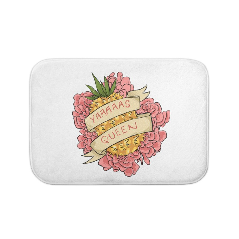 Yaaaaas Queen Home Bath Mat by caitymayhem's Artist Shop