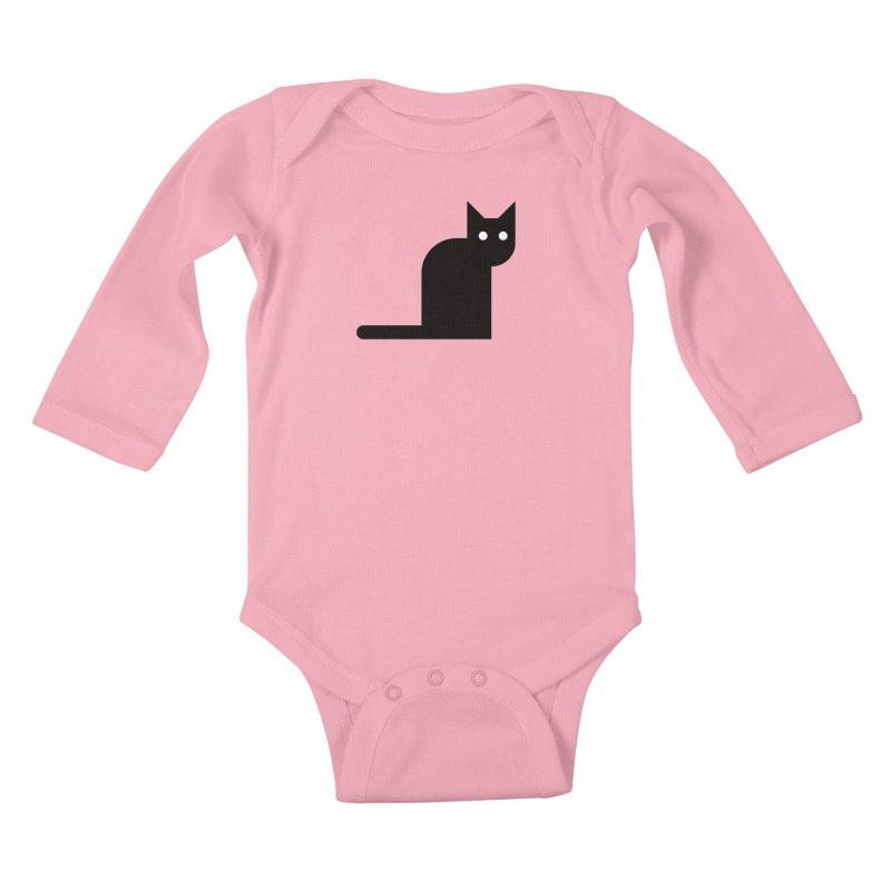 Calamityware Cat Kids Baby Longsleeve Bodysuit by Calamityware