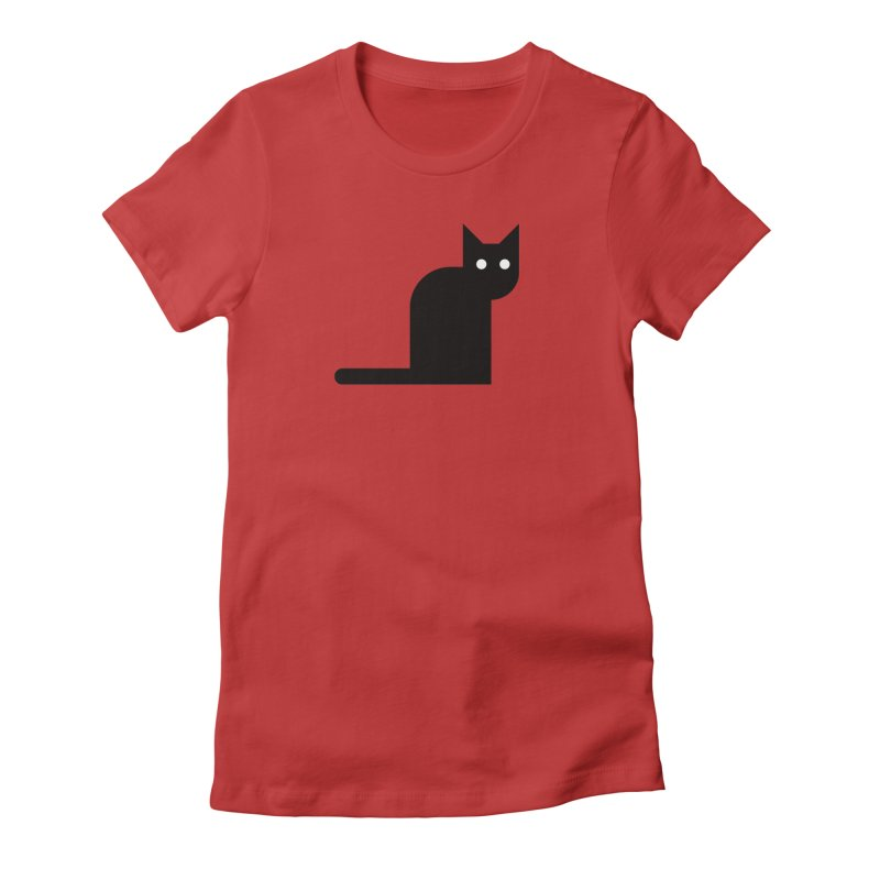 Calamityware Cat Women's Fitted T-Shirt by Calamityware