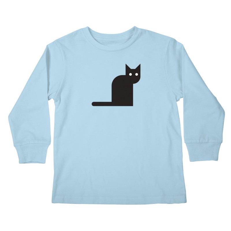 Calamityware Cat Kids Longsleeve T-Shirt by Calamityware