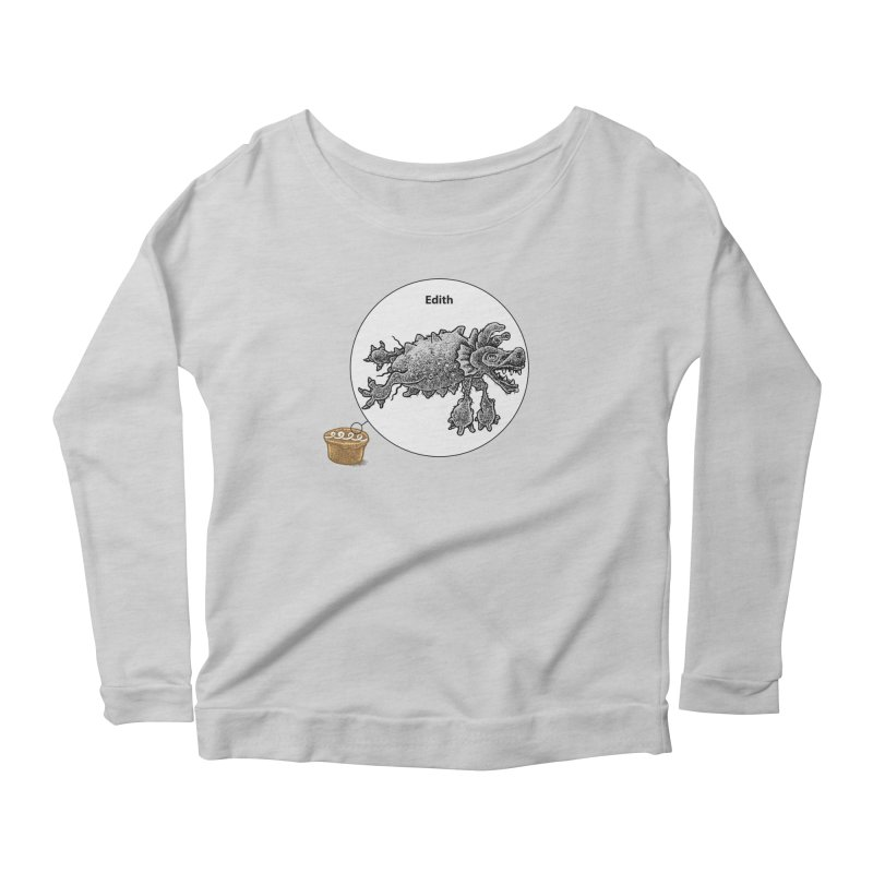 Cake and Edith, too Women's Longsleeve Scoopneck  by Calamityware