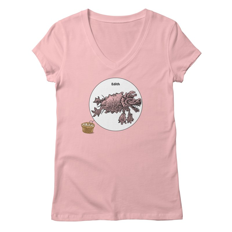 Cake and Edith, too Women's Regular V-Neck by Calamityware