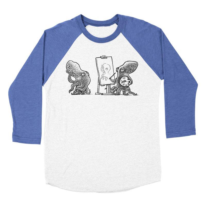 Octopus Painter Women's Baseball Triblend T-Shirt by Calamityware