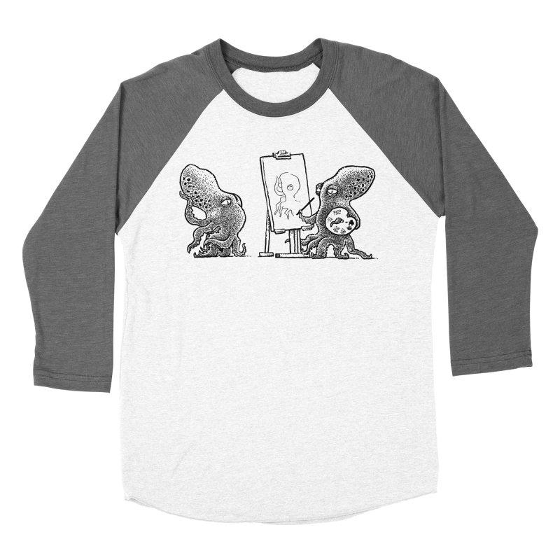Octopus Painter Women's Baseball Triblend Longsleeve T-Shirt by Calamityware