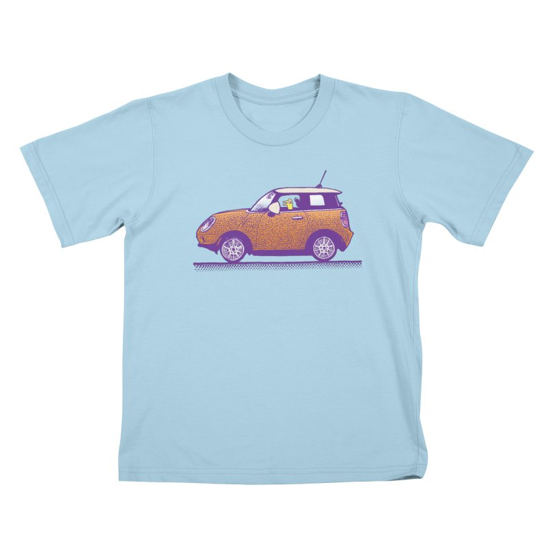 Mini Cooper Kids T-Shirt by Calamityware