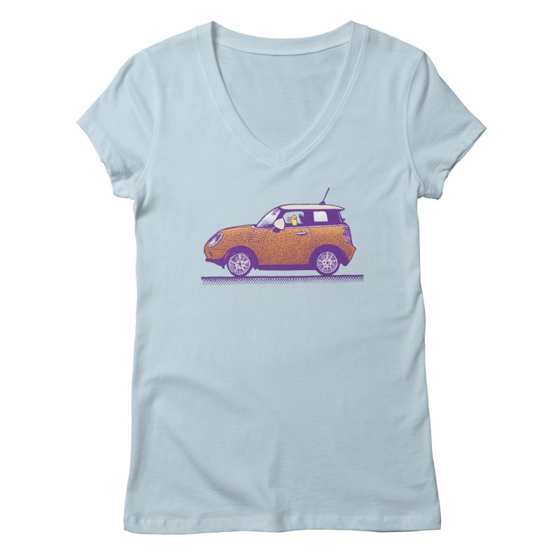 Mini Cooper Women's V-Neck by Calamityware