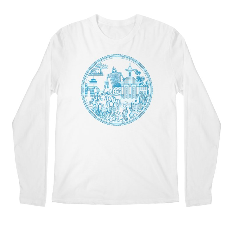 Giant Robot Men's Longsleeve T-Shirt by Calamityware