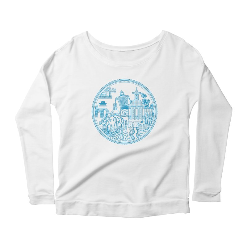 Giant Robot Women's Scoop Neck Longsleeve T-Shirt by Calamityware