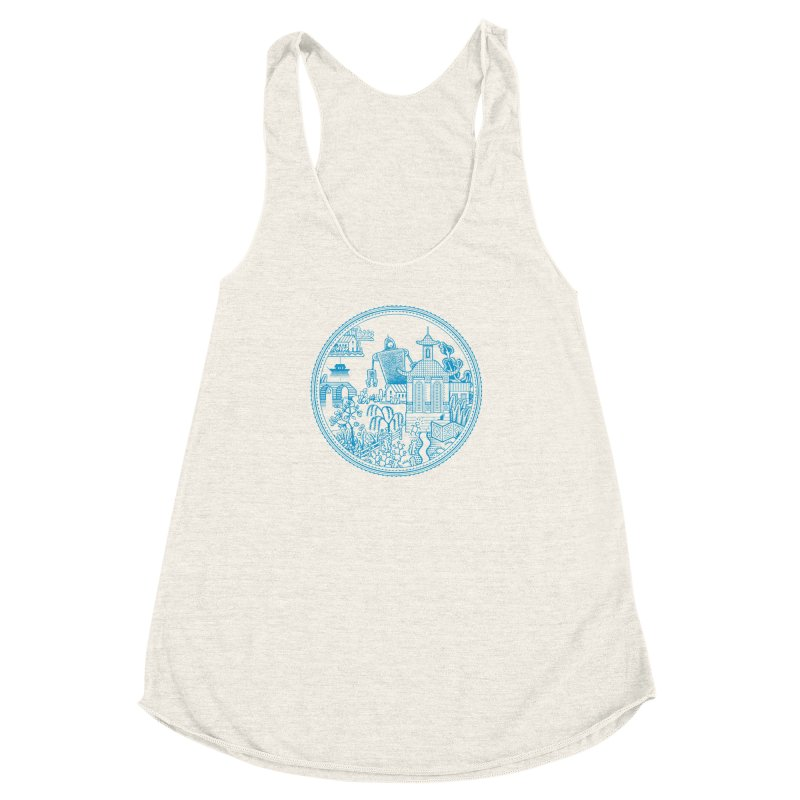 Giant Robot Women's Racerback Triblend Tank by Calamityware