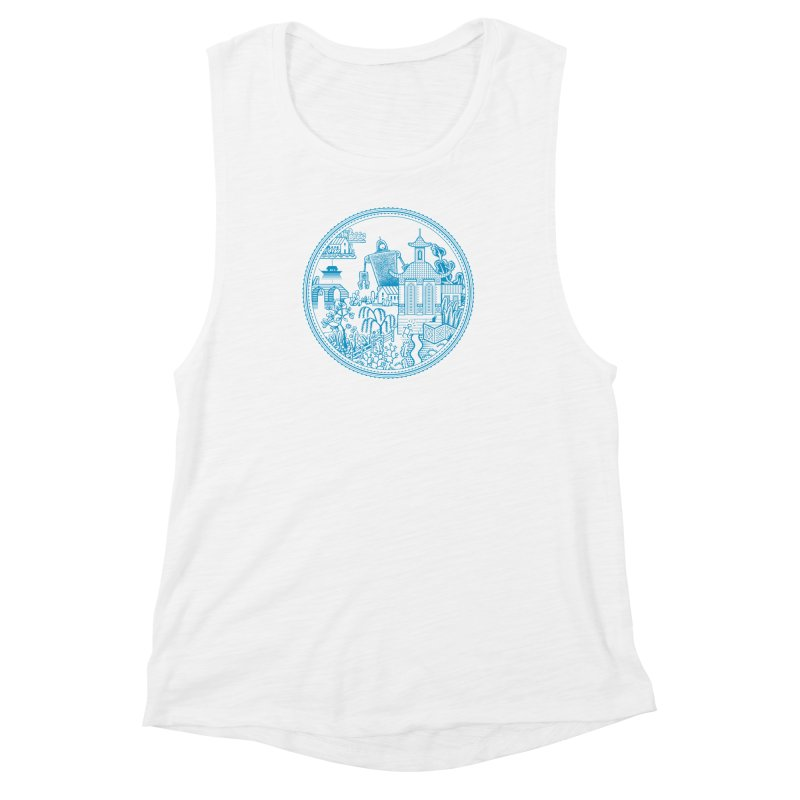Giant Robot Women's Muscle Tank by Calamityware