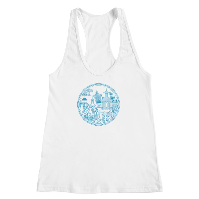 Giant Robot Women's Racerback Tank by Calamityware