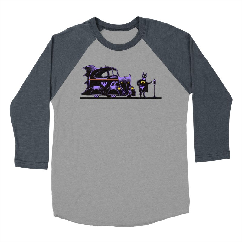 1943 Batmobile Women's Baseball Triblend T-Shirt by Calamityware