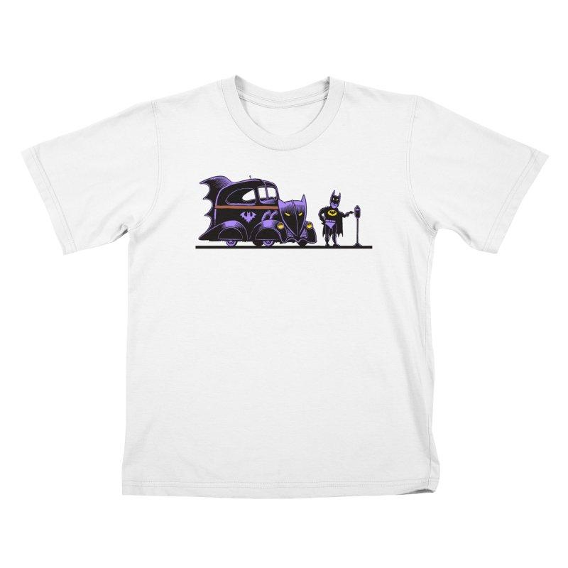 1943 Batmobile Kids T-Shirt by Calamityware
