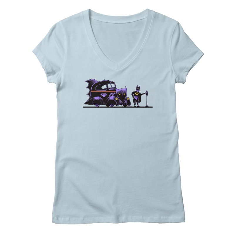 1943 Batmobile Women's V-Neck by Calamityware