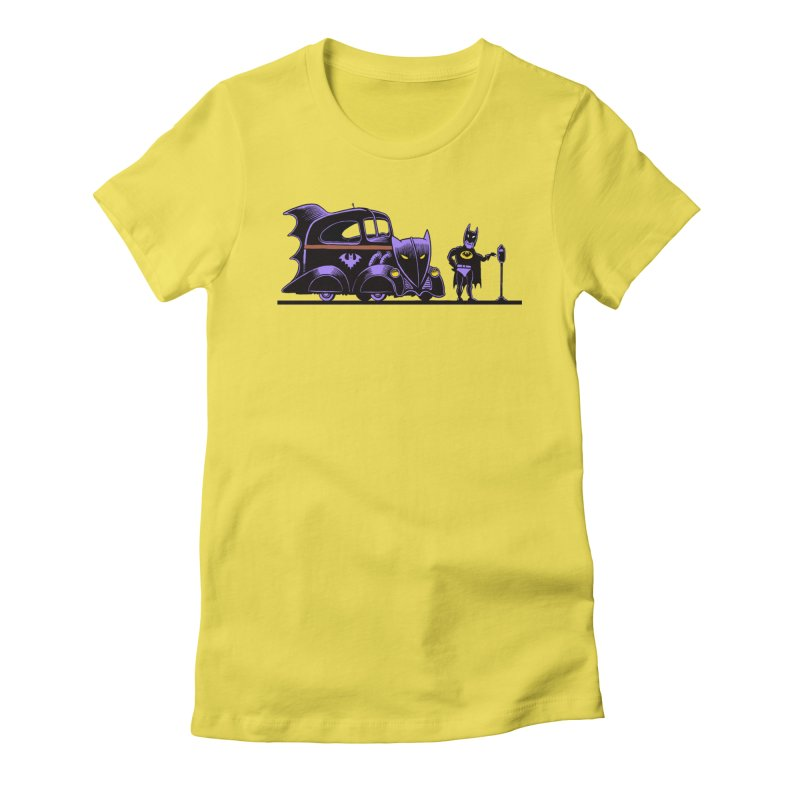 1943 Batmobile Women's Fitted T-Shirt by Calamityware