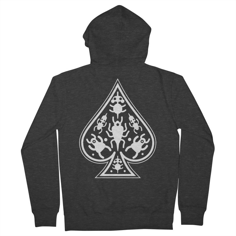 Ace of Spades Men's French Terry Zip-Up Hoody by Calamityware