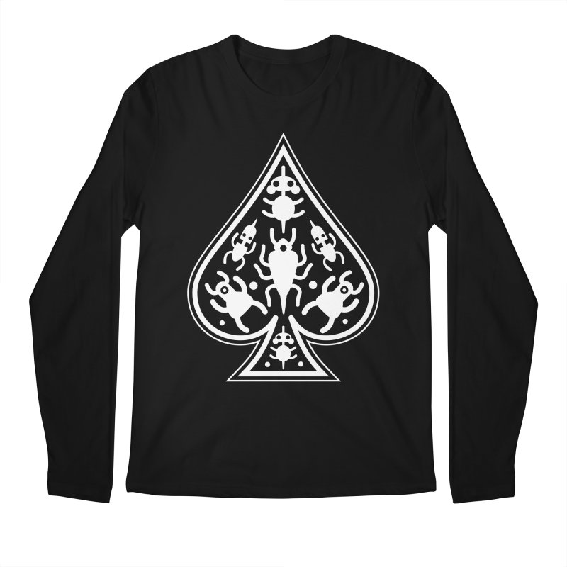 Ace of Spades Men's Longsleeve T-Shirt by Calamityware