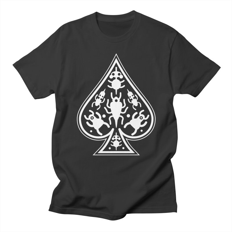 Ace of Spades Men's Regular T-Shirt by Calamityware