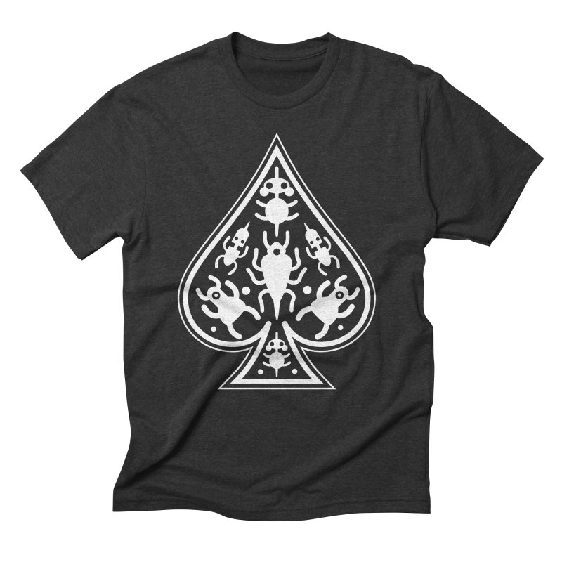 Ace of Spades Men's Triblend T-Shirt by Calamityware