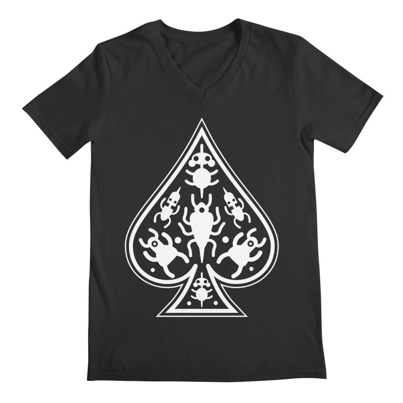 Ace of Spades Men's V-Neck by Calamityware