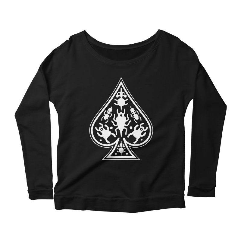 Ace of Spades Women's Scoop Neck Longsleeve T-Shirt by Calamityware