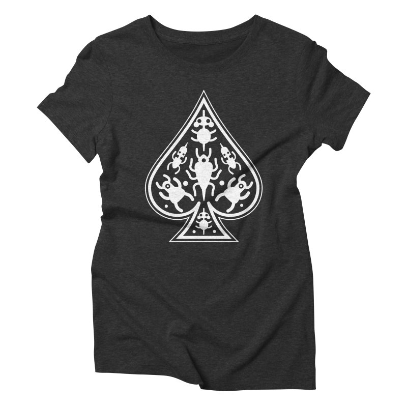 Ace of Spades Women's Triblend T-shirt by Calamityware