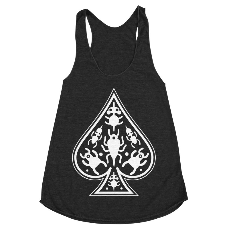 Ace of Spades Women's Racerback Triblend Tank by Calamityware
