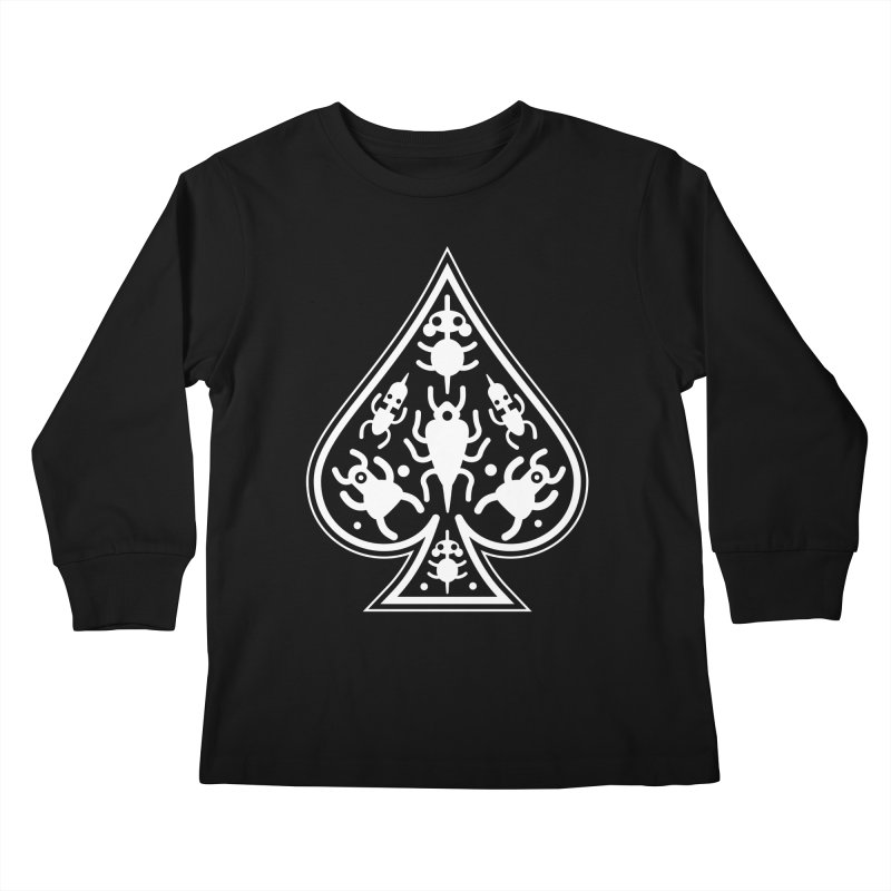 Ace of Spades Kids Longsleeve T-Shirt by Calamityware