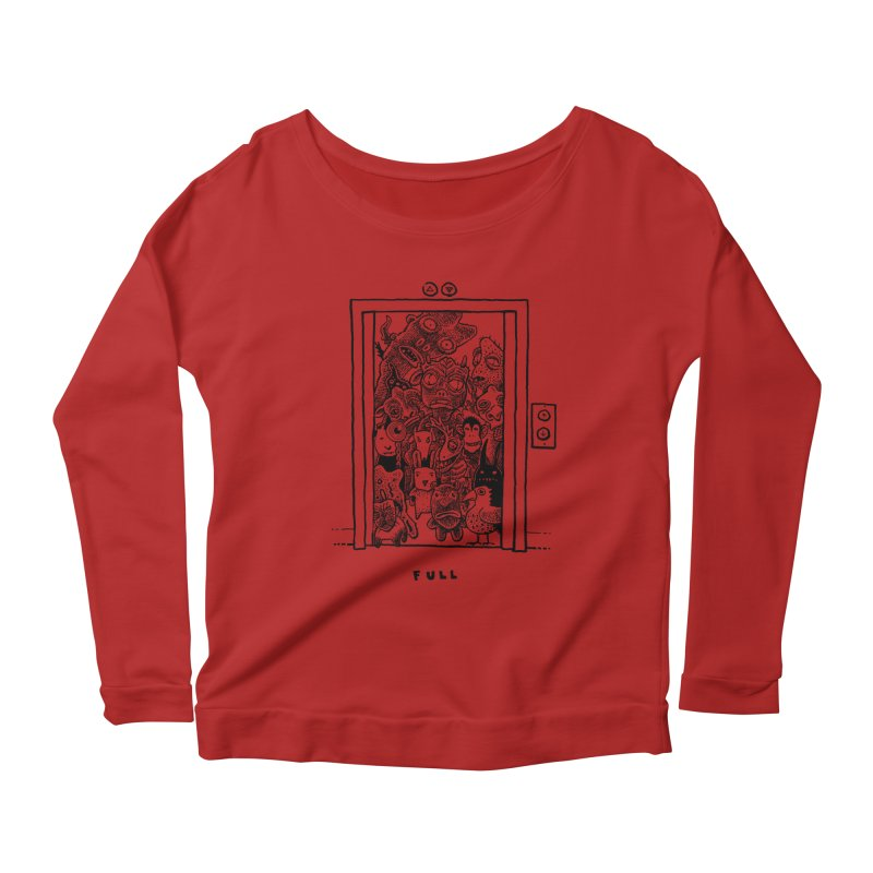 Full Women's Longsleeve Scoopneck  by Calamityware
