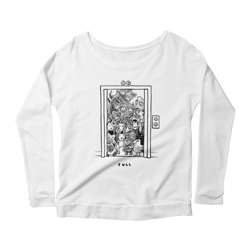 Full Women's Scoop Neck Longsleeve T-Shirt by Calamityware