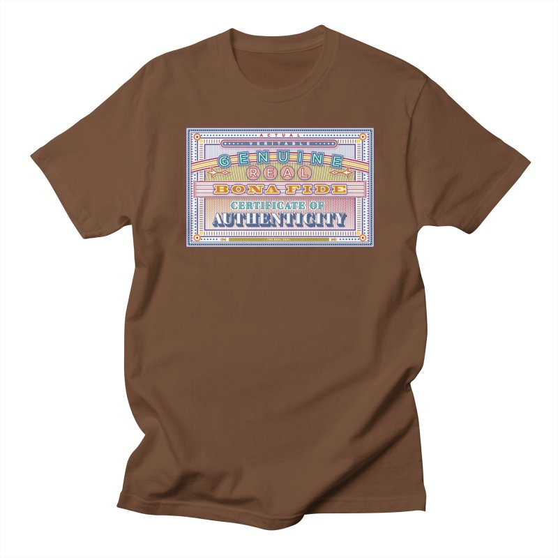 Certificate of Authenticity Men's T-shirt by Calamityware