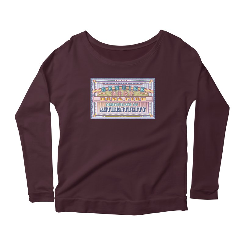 Certificate of Authenticity Women's Longsleeve Scoopneck  by Calamityware