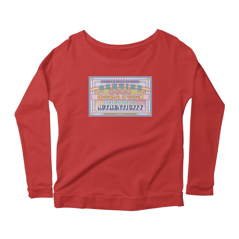 Certificate of Authenticity Women's Scoop Neck Longsleeve T-Shirt by Calamityware