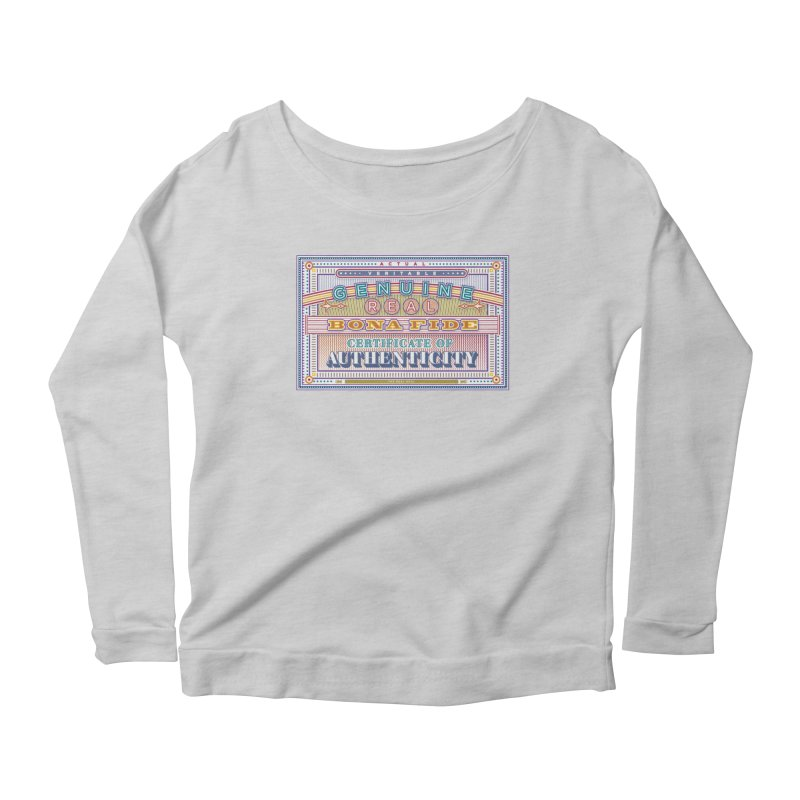 Certificate of Authenticity Women's Longsleeve T-Shirt by Calamityware