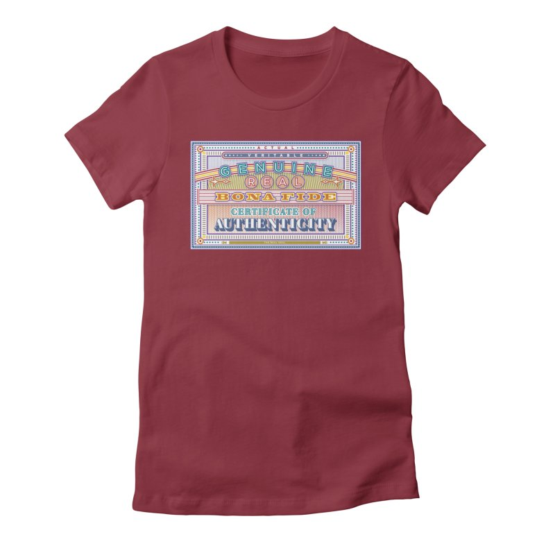 Certificate of Authenticity Women's Fitted T-Shirt by Calamityware