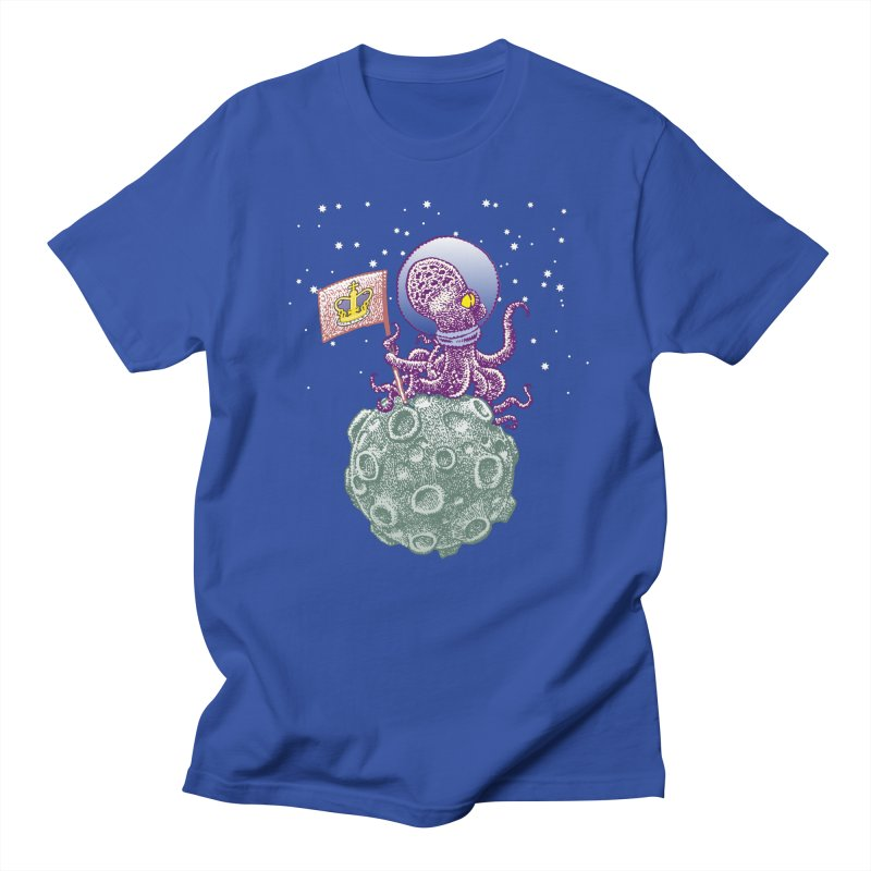 Space Octopus Men's T-Shirt by Calamityware