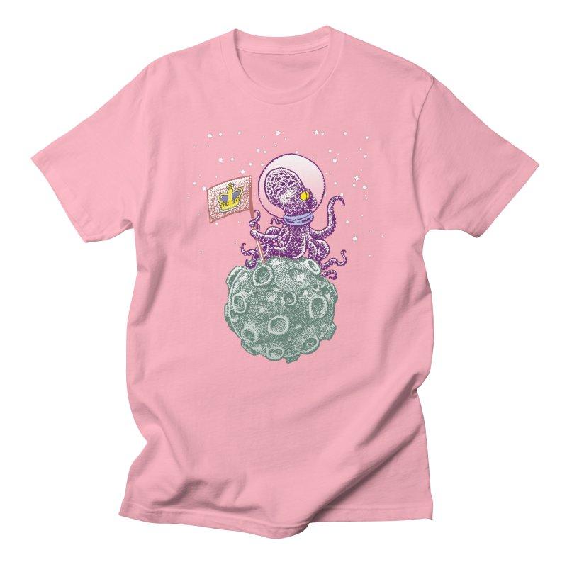 Space Octopus Men's Regular T-Shirt by Calamityware