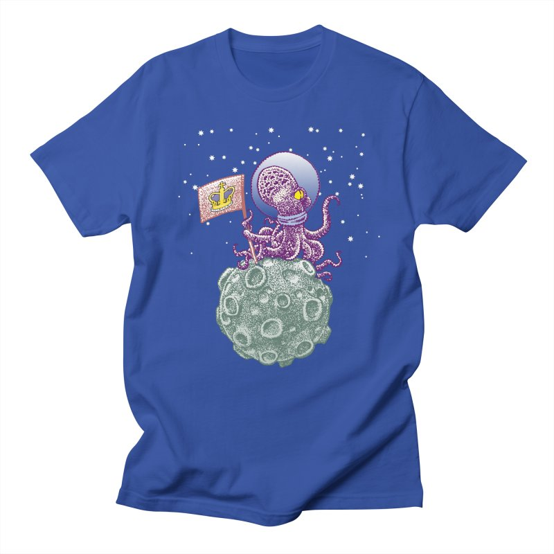 Space Octopus Men's Regular T-Shirt by Calamityware