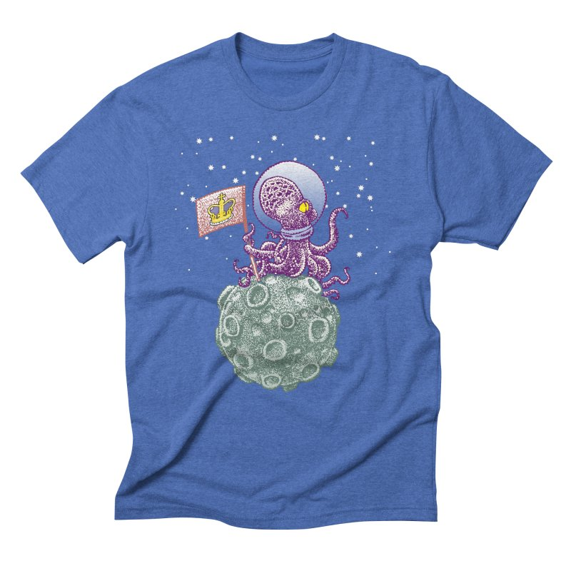 Space Octopus Men's Triblend T-shirt by Calamityware