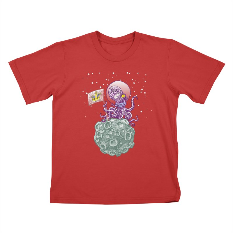 Space Octopus Kids T-shirt by Calamityware