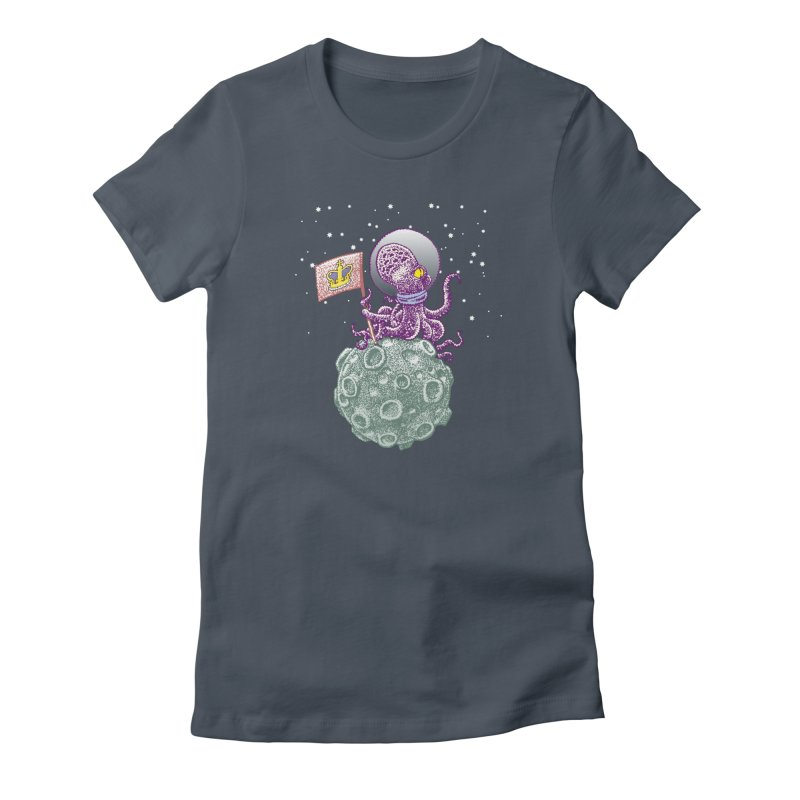Space Octopus Women's T-Shirt by Calamityware