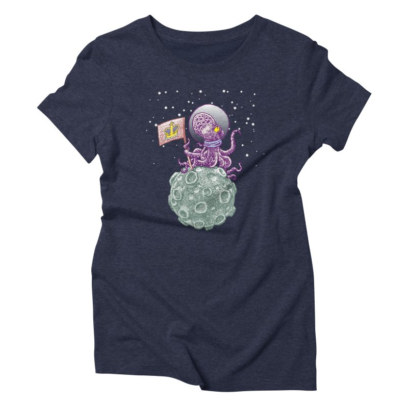 Space Octopus Women's Triblend T-shirt by Calamityware