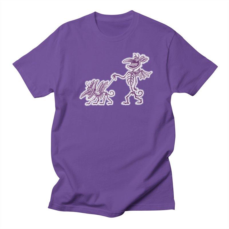 Demon Walkies Men's Regular T-Shirt by Calamityware