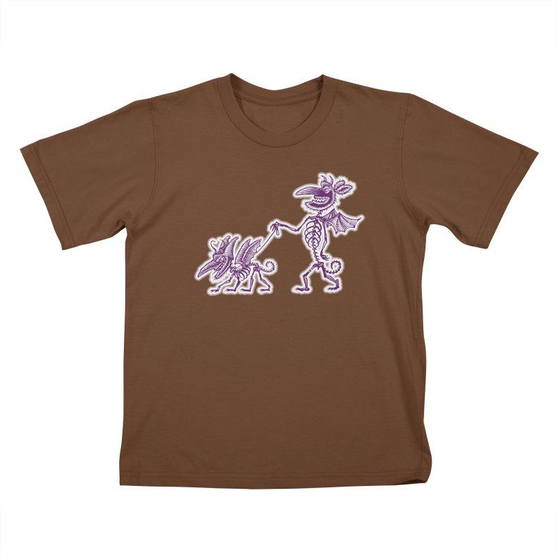 Demon Walkies Kids T-shirt by Calamityware