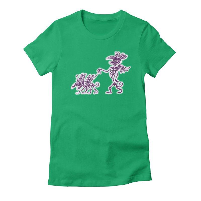 Demon Walkies Women's T-Shirt by Calamityware