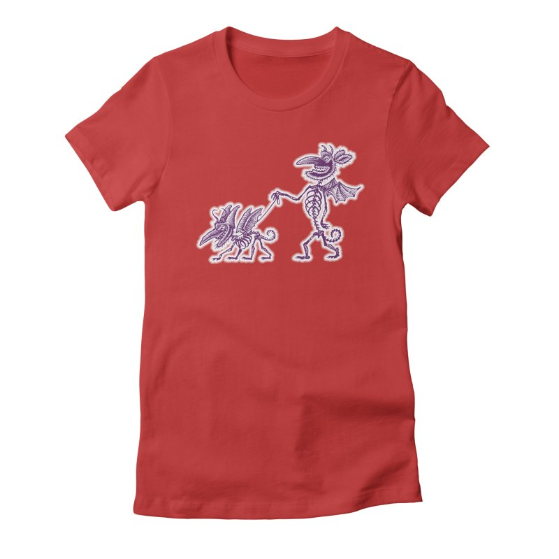 Demon Walkies Women's T-Shirt by Calamityware