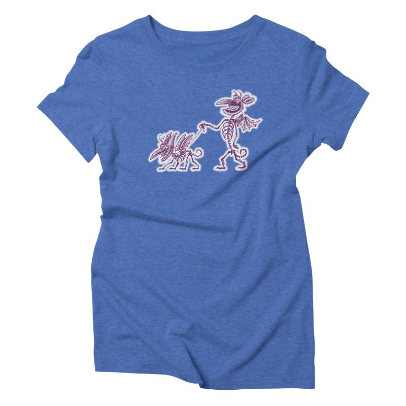Demon Walkies Women's Triblend T-Shirt by Calamityware